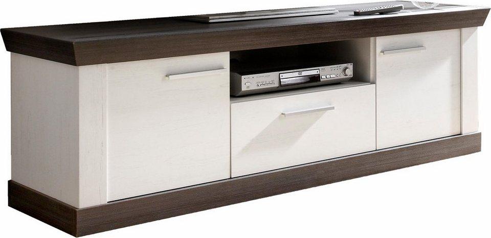 Home affaire Lowboard »Siena«, Breite 158 cm in Pinie weiß/wengefarben