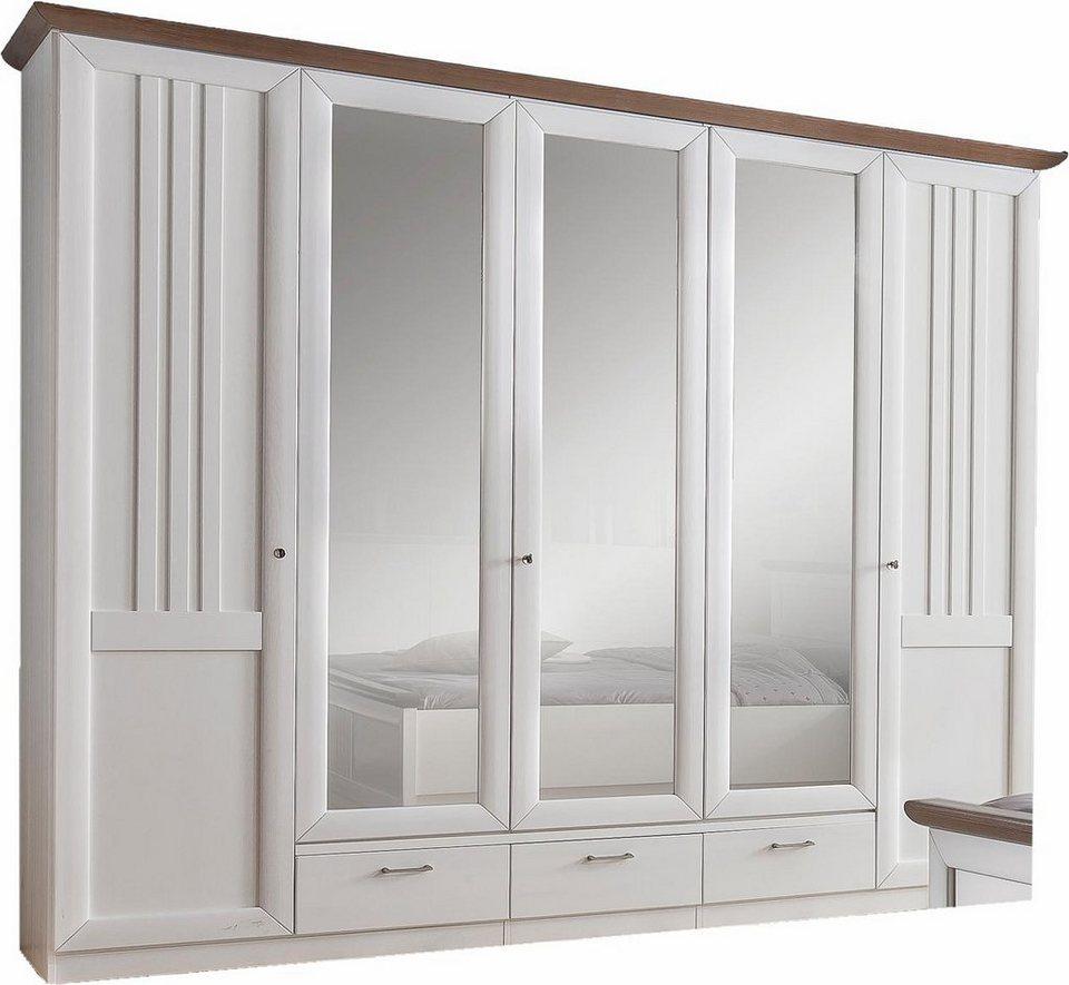 Premium Collection by Home affaire Kleiderschrank »Eleganza« in weiß/grau