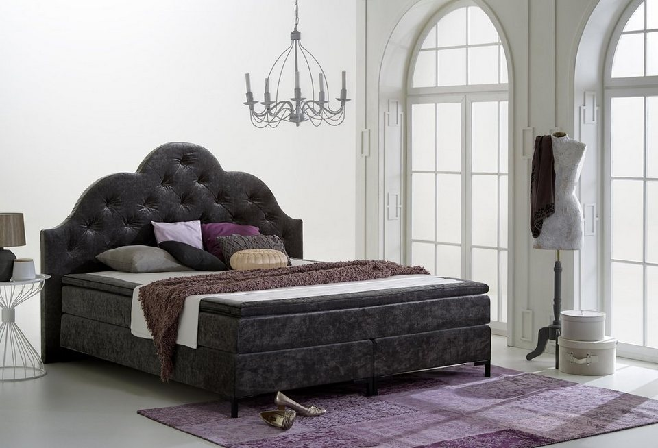 home affaire boxspringbett caro online kaufen otto. Black Bedroom Furniture Sets. Home Design Ideas