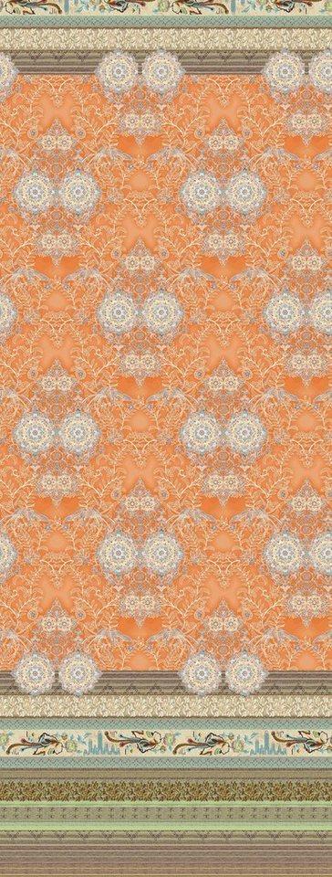 Überwurf, Bassetti, »Loto«, mit floralen Elementen in orange