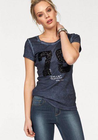 ARIZONA Marškinėliai »vorn su Pailletten«