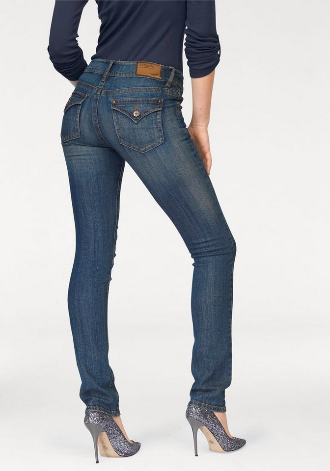 Arizona Skinny-fit-Jeans »Shaping« Low Waist in blue-used