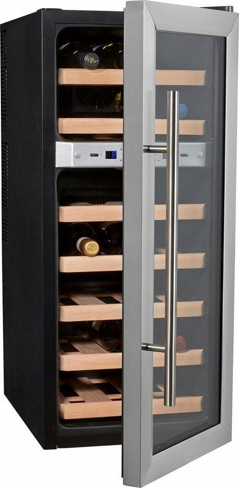 CASO Design, Weinkühlschrank, »Wine Duett 21«, Höhe 80,5 cm, für 21 ...
