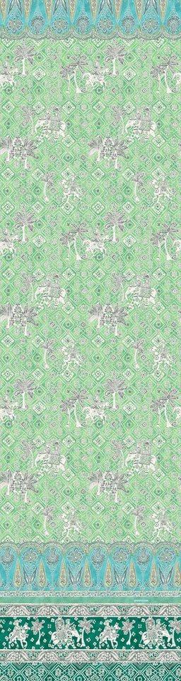 Überwurf, Bassetti, »Jasmine«, mit orientalischen Motiven in grün