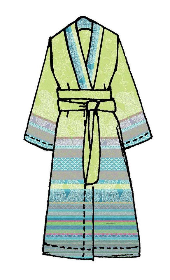 Kimono, Bassetti, »Tiziano«, mit verschiedenen Mustern in grün