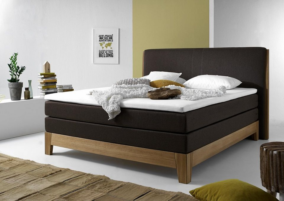 Home affaire Boxspringbett inkl. Topper »Marko« in braun