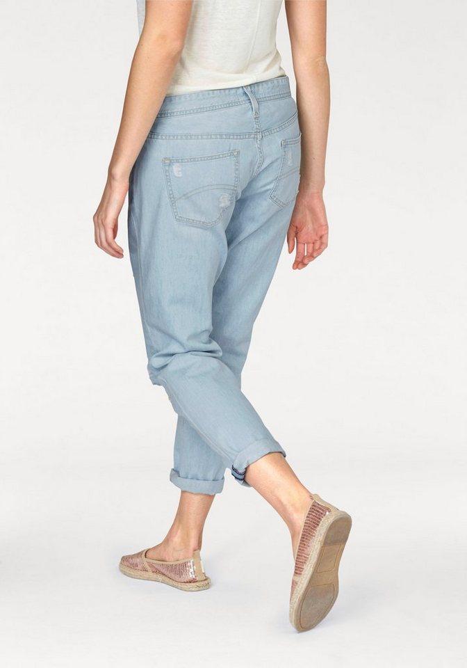 Hilfiger Denim Girlfriend-Jeans mit destroyed Details in hellblau-denim