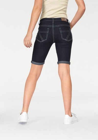 Arizona Jeansbermudas »Kontrastnähte« Mid Waist f4f4be5b20