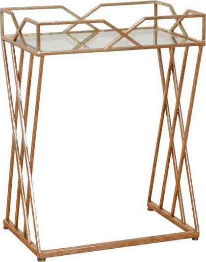 Home affaire Beistelltisch mit hochwertiger Spiegelglasplatte