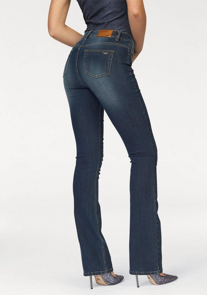 Arizona Bootcut-Jeans »High-Waist« in darkblue-used