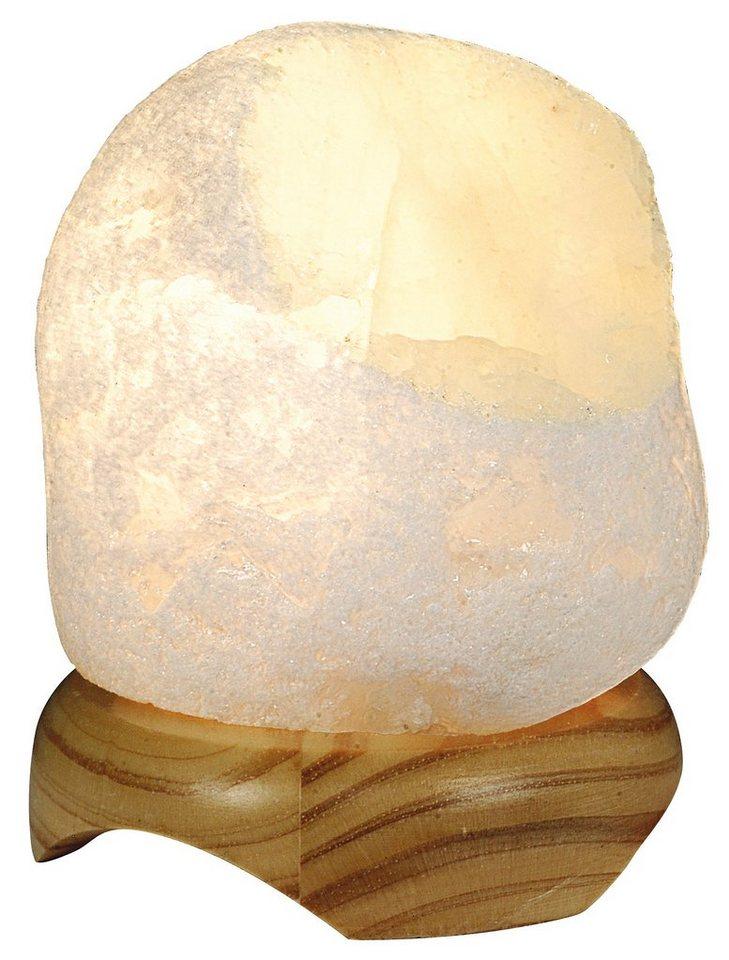 Näve Tischleuchte, 1flg., »Bergkristall« in Holz, Bergkristall