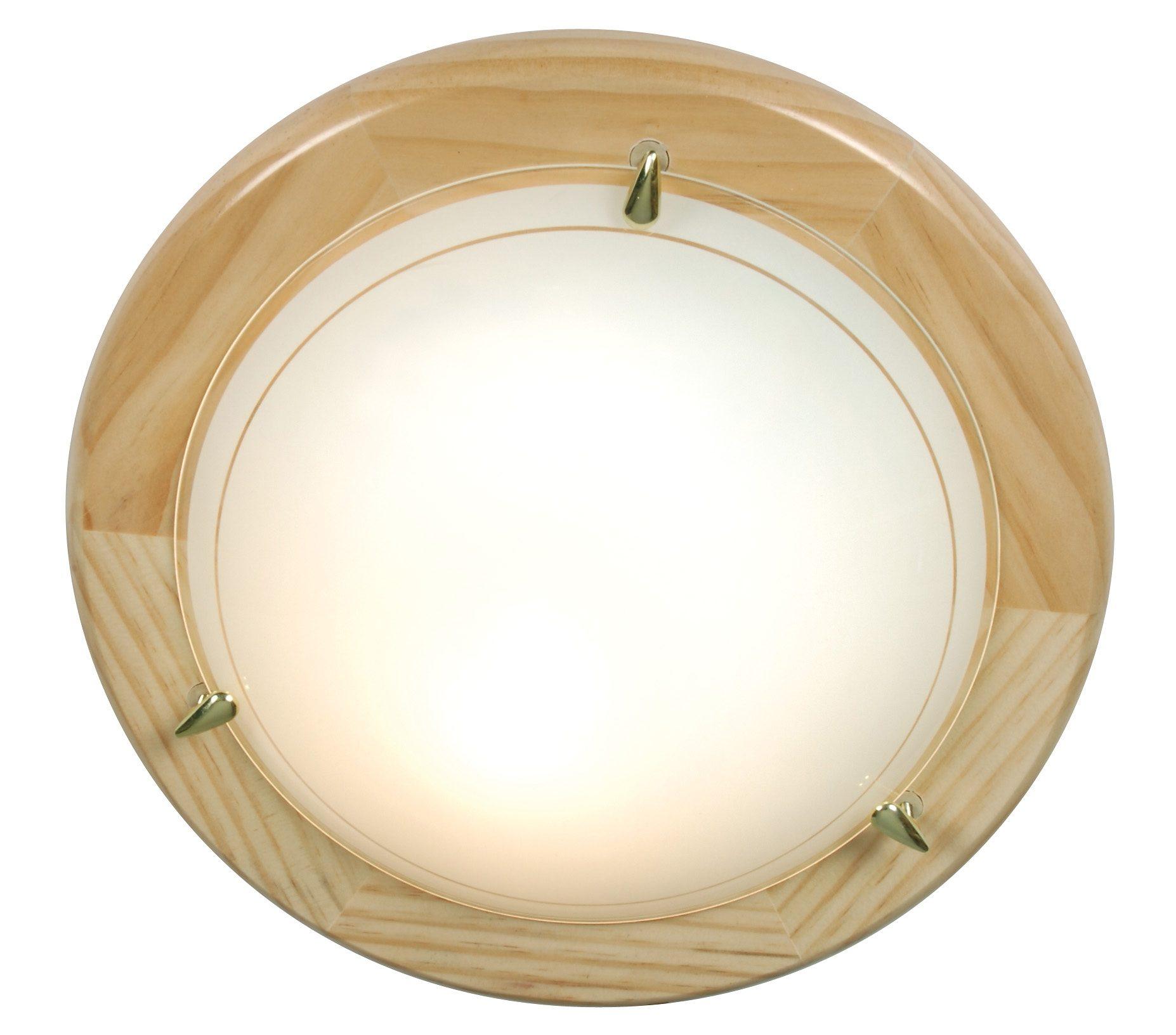 Näve Deckenleuche, 1flg., »UFO-Holz«
