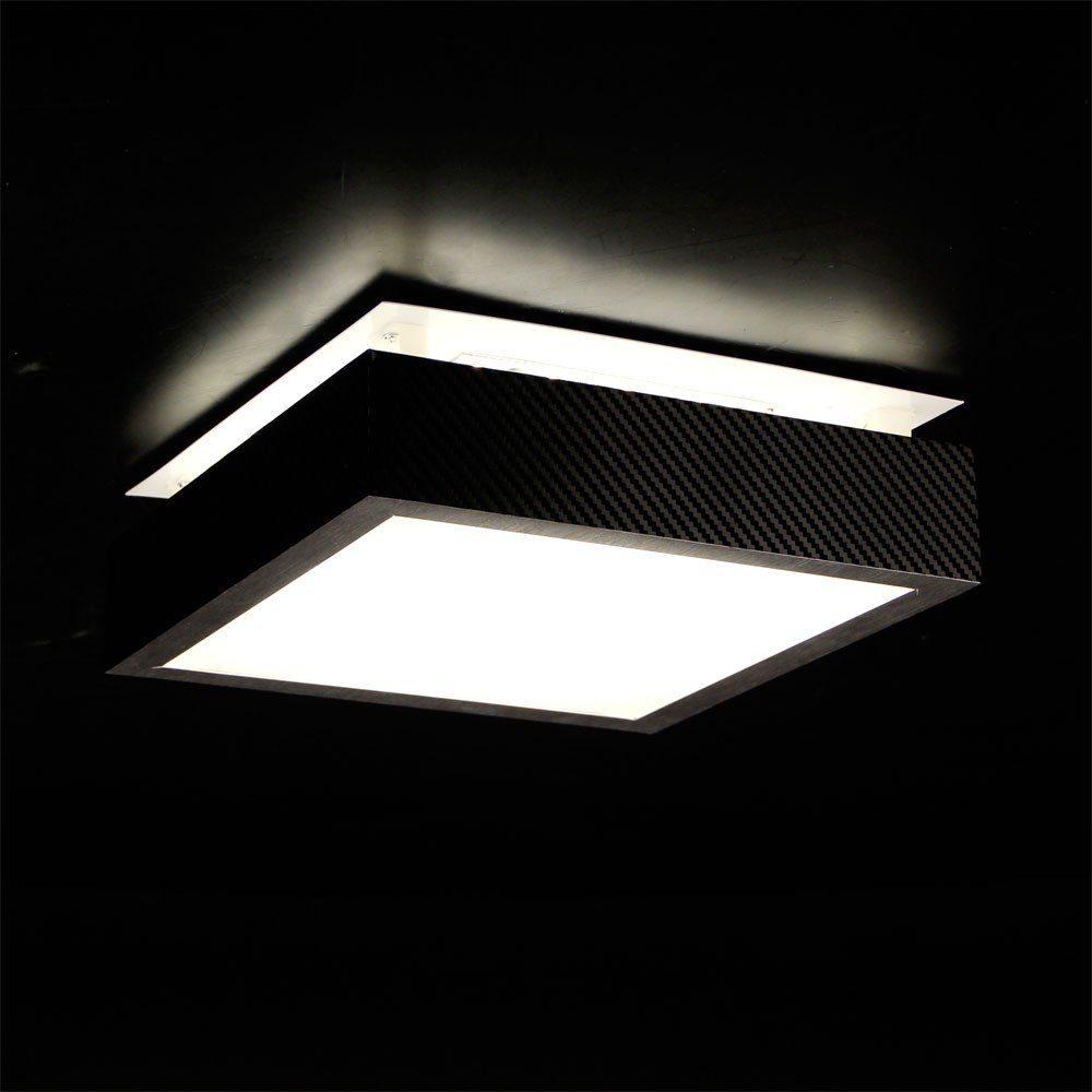 s.LUCE Deckenleuchte »Carbon Balko LED 10W 30 x 30 cm«