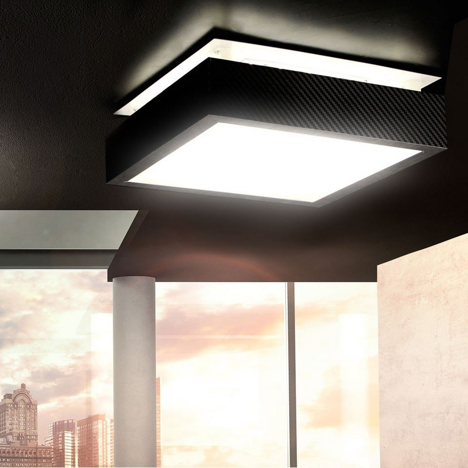 s luce deckenlampe carbon balko led 10w 30 x 30 cm online kaufen otto. Black Bedroom Furniture Sets. Home Design Ideas