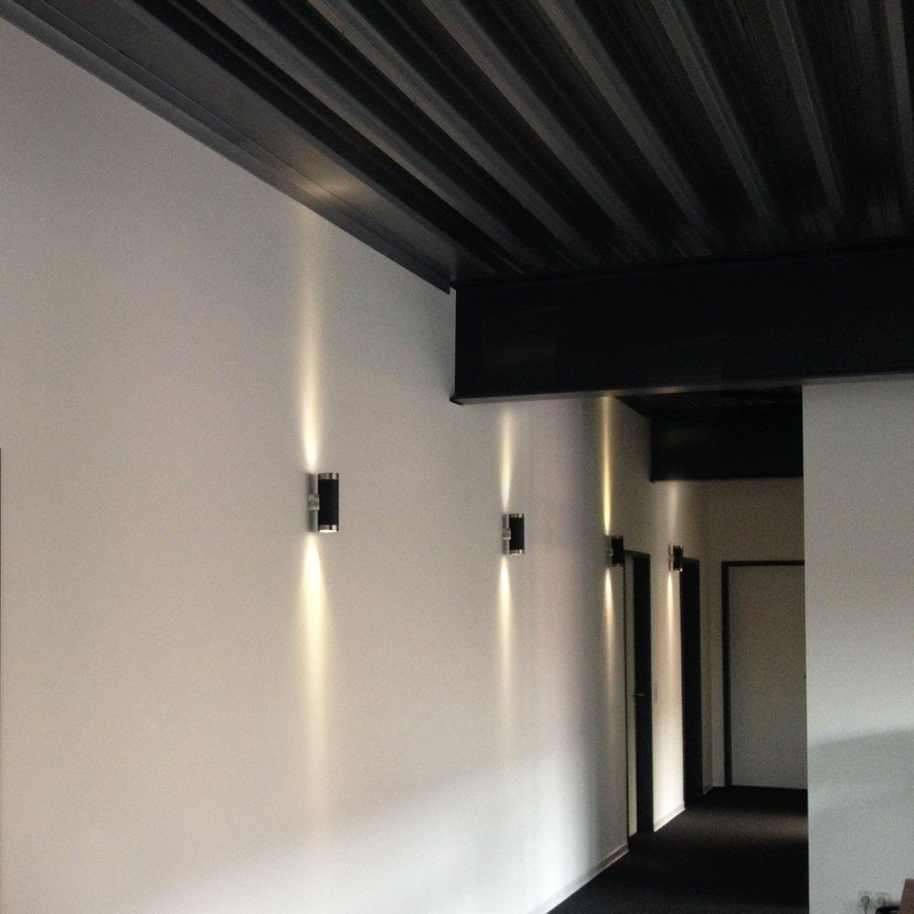 s.LUCE Wandleuchte »Carbon Steel LED Up&Down«