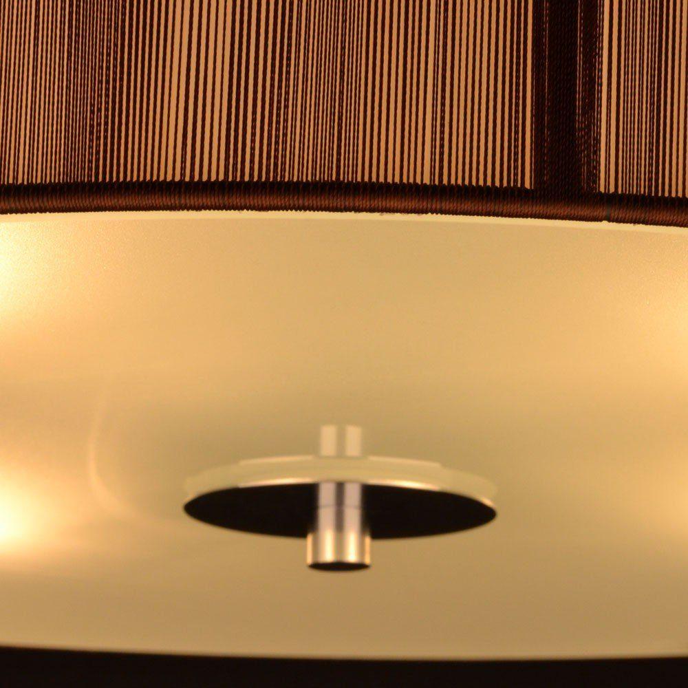s.LUCE Deckenleuchte »Twine S Ø 30 cm mit Stoffschirm Braun«