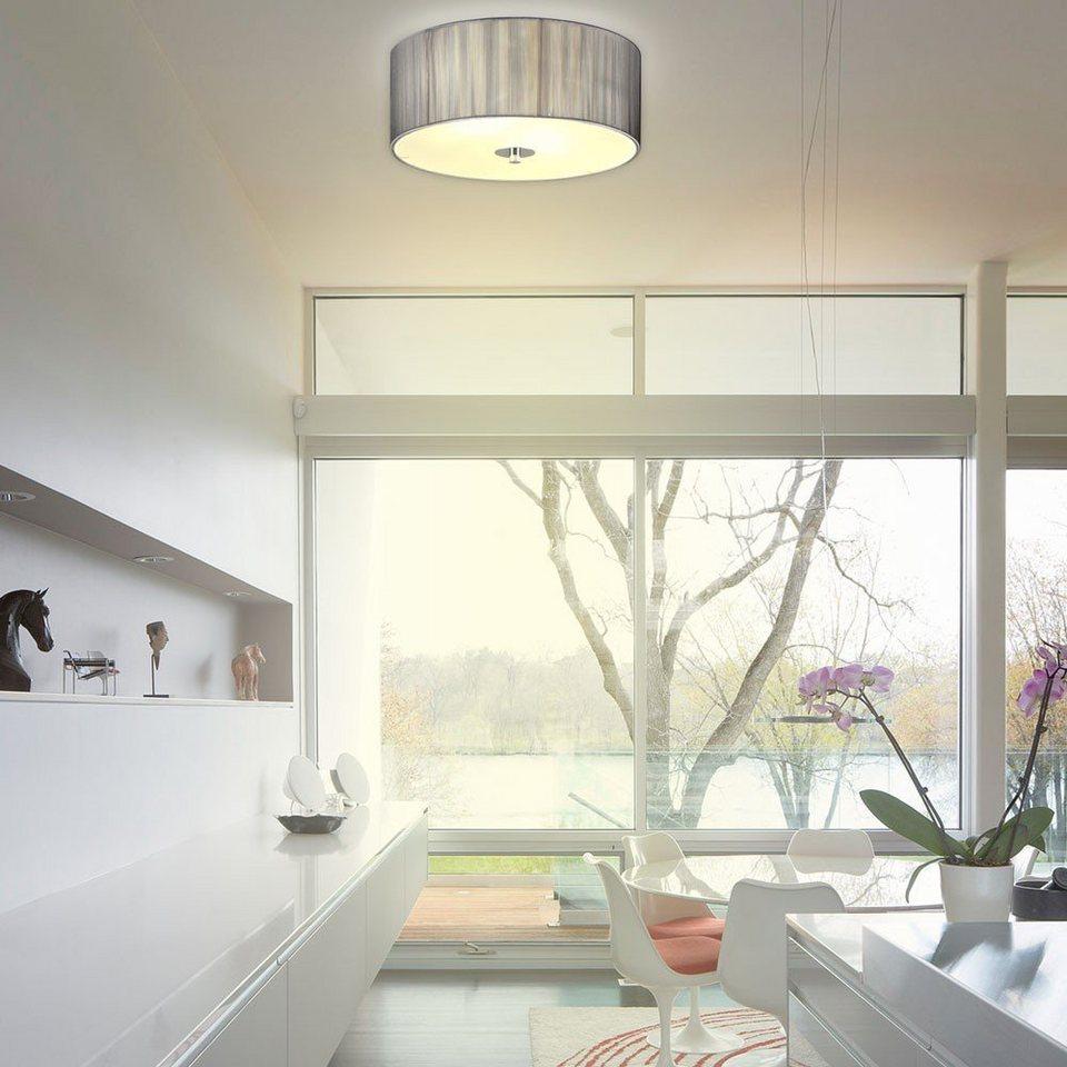 s luce deckenleuchte twine s stoff 30 cm silberfarben. Black Bedroom Furniture Sets. Home Design Ideas