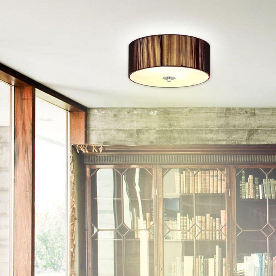 s.LUCE Deckenlampe »Twine S Deckenleuchte Ø 30 cm mit Stoffschirm /« in Silber
