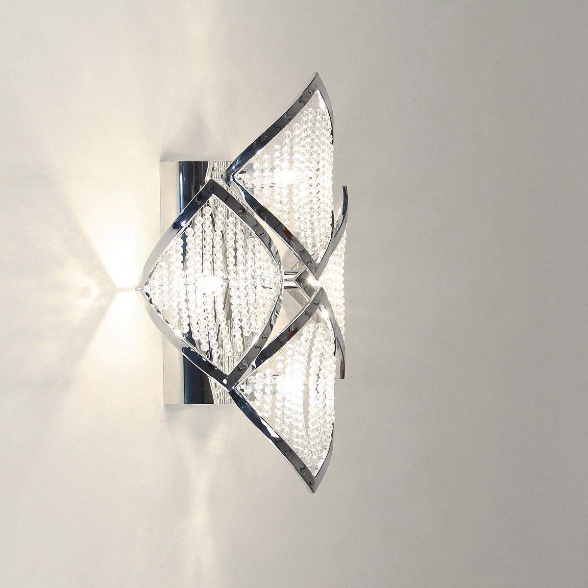 s.LUCE Wandleuchte »Chaplet M 42x26 cm mit Kristallperlen«
