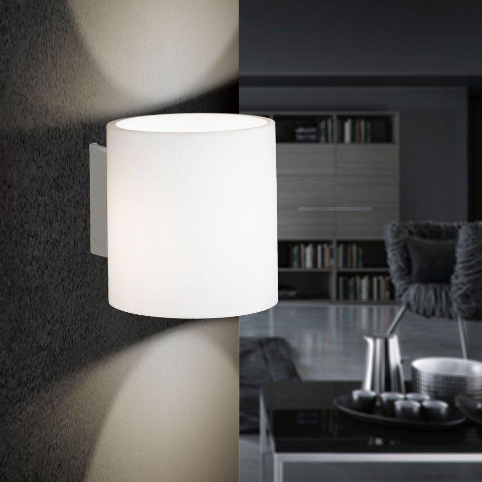 s.LUCE Wandlampe »Natch rund mit Opalglas« in Silber