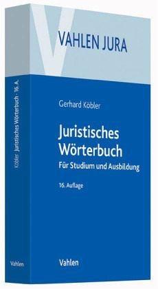 Broschiertes Buch »Juristisches Wörterbuch«
