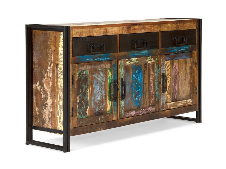 massivum sideboard aus recycelt massiv quebec otto. Black Bedroom Furniture Sets. Home Design Ideas