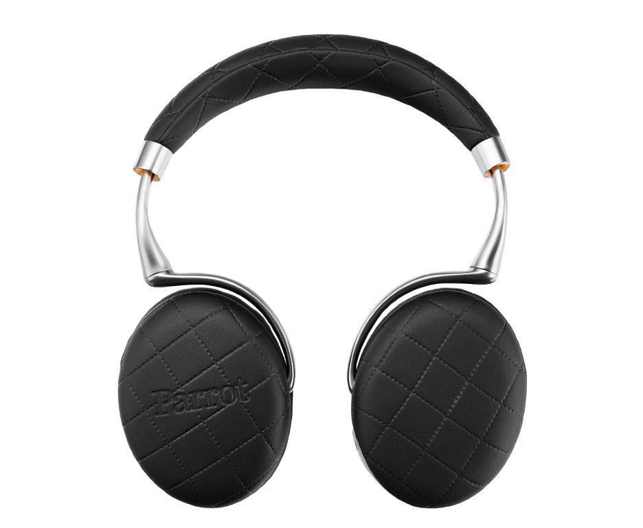 Parrot Audio Suite Bluetooth Kopfhörer mit Steppnaht verziert »Parrot Zik 3 by Philippe Starck« in schwarz mit Steppnaht