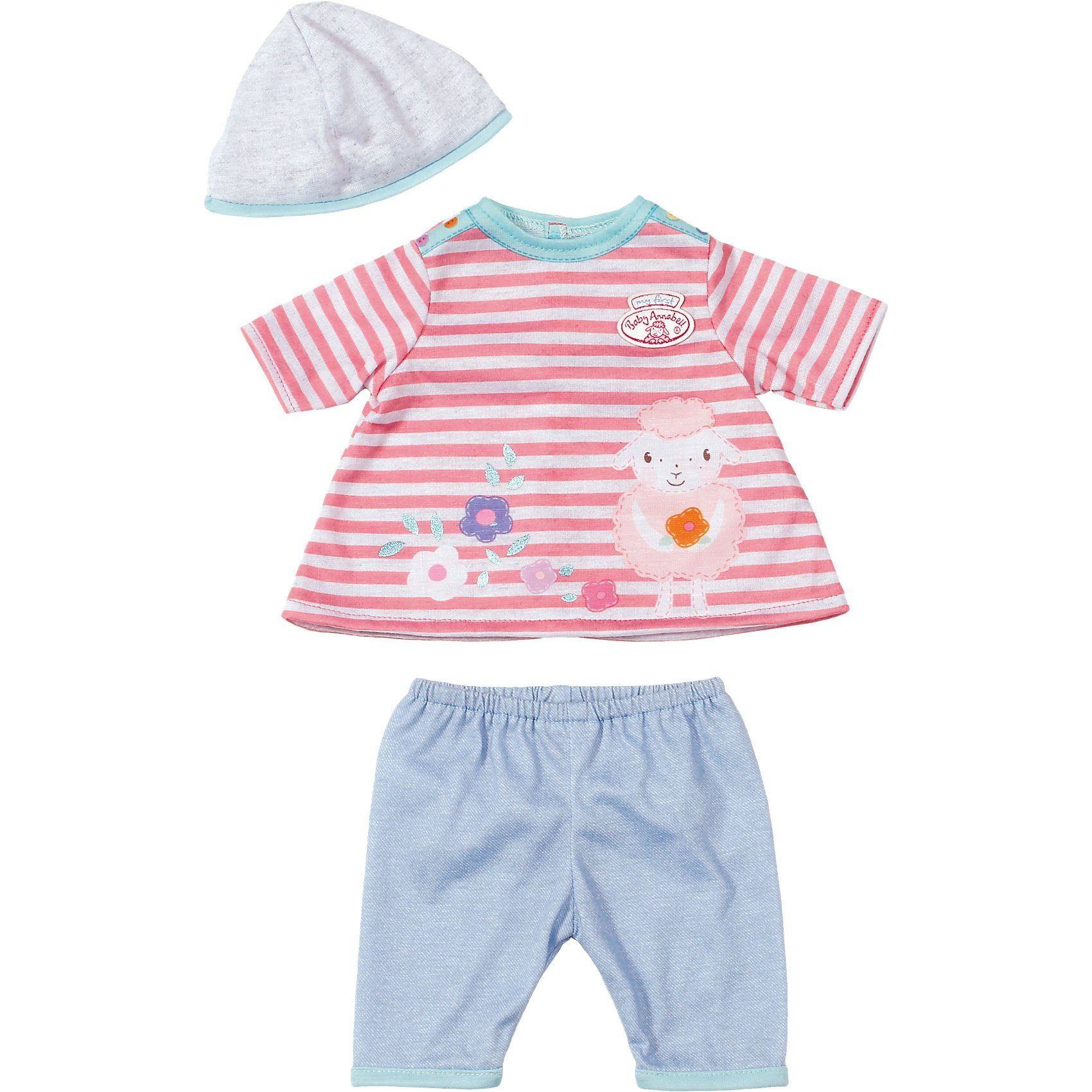 Zapf Creation my first Baby Annabell® Puppenkleidung Spiel-Outfit gestreif
