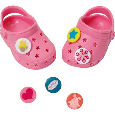 Zapf Creation® BABY born® Puppenkleidung Schuhe Clogs mit Pins Rosa, 43cm