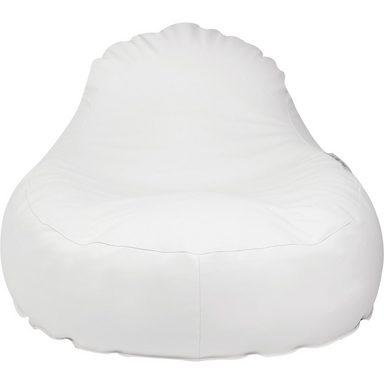 Outdoor-Sitzsack Slope XL, Skin, weiß