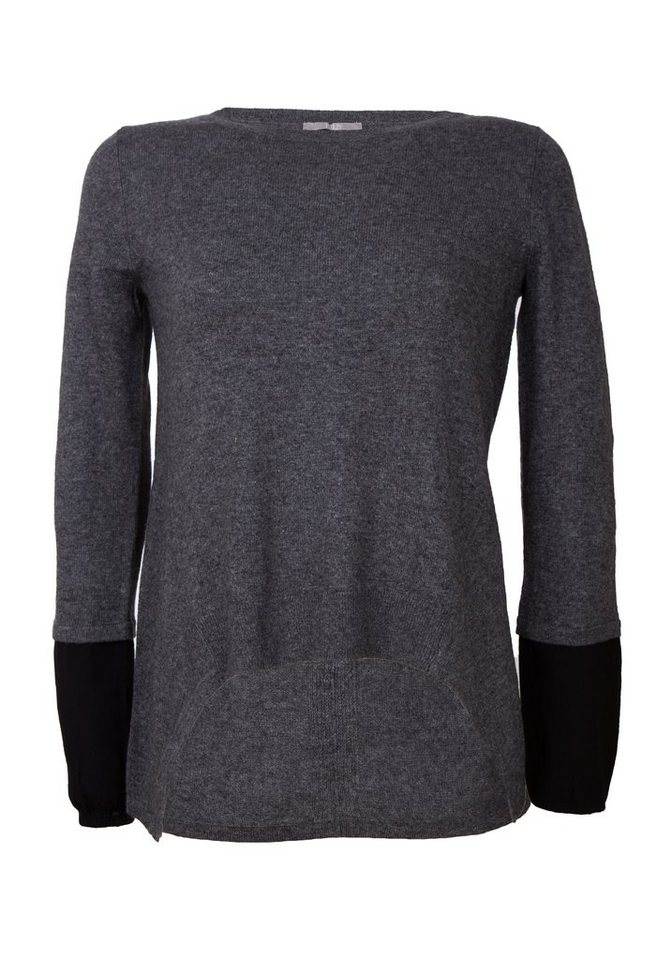 TUZZI Pullover in mid-grey melange