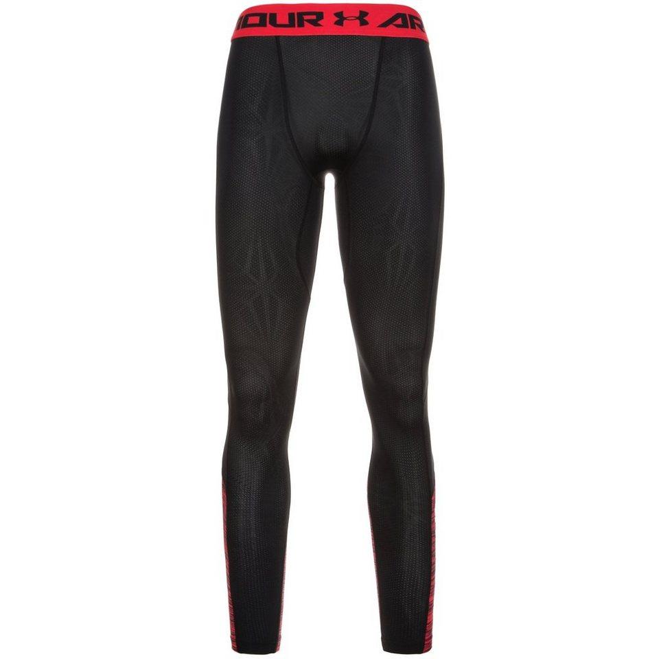 Under Armour® HeatGear CoolSwitch Compression Trainingstight Herren in schwarz / rot