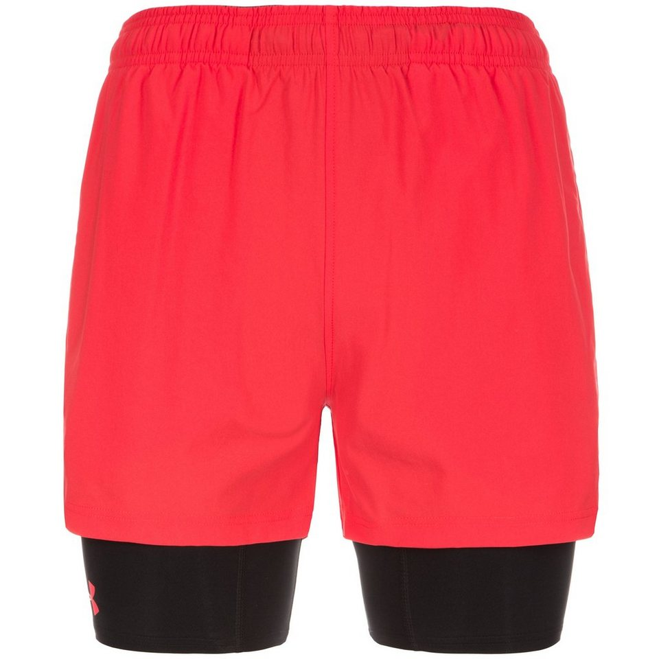 Under Armour® HeatGear Mirage 2-in-1 Trainingsshort Herren in rot / schwarz