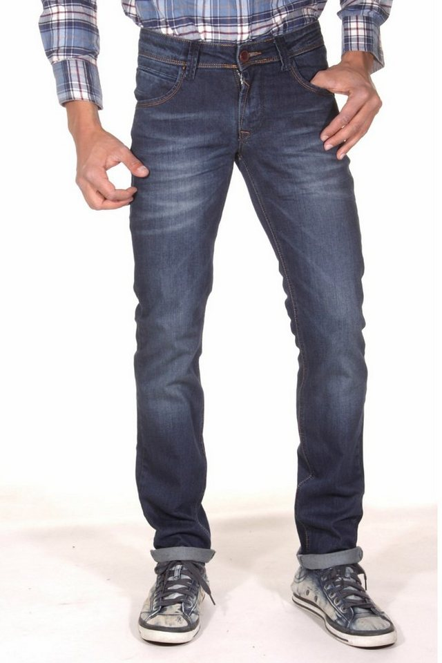 DIFFER Stretchjeans slim fit in blau