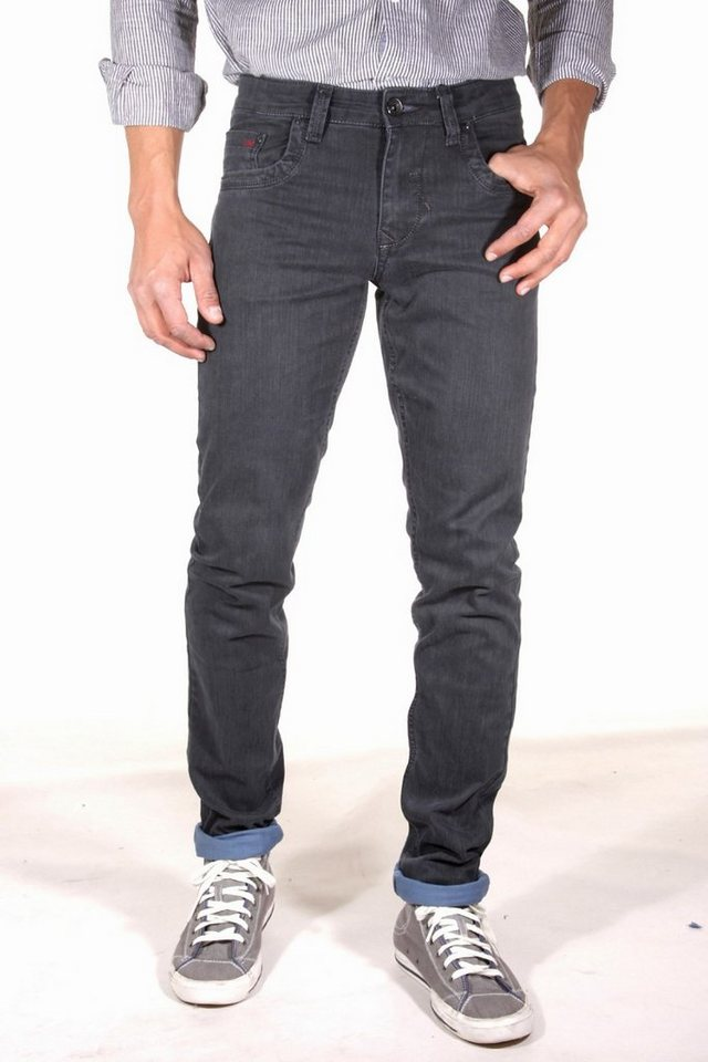 DIFFER Stretchjeans slim fit in khaki