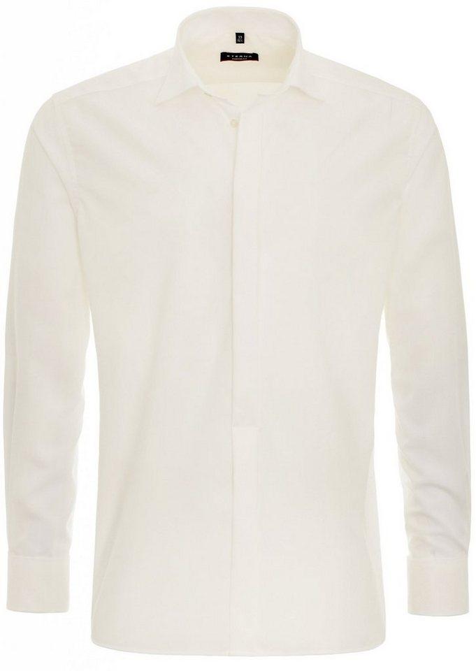 ETERNA Langarm Hemd »MODERN FIT« in beige