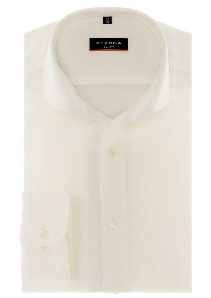 ETERNA Langarm Hemd »SLIM FIT« in beige