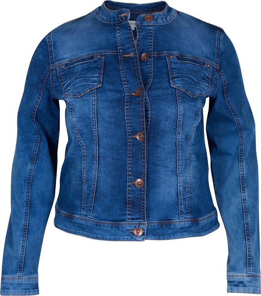 Zizzi Jacke in Blue denim