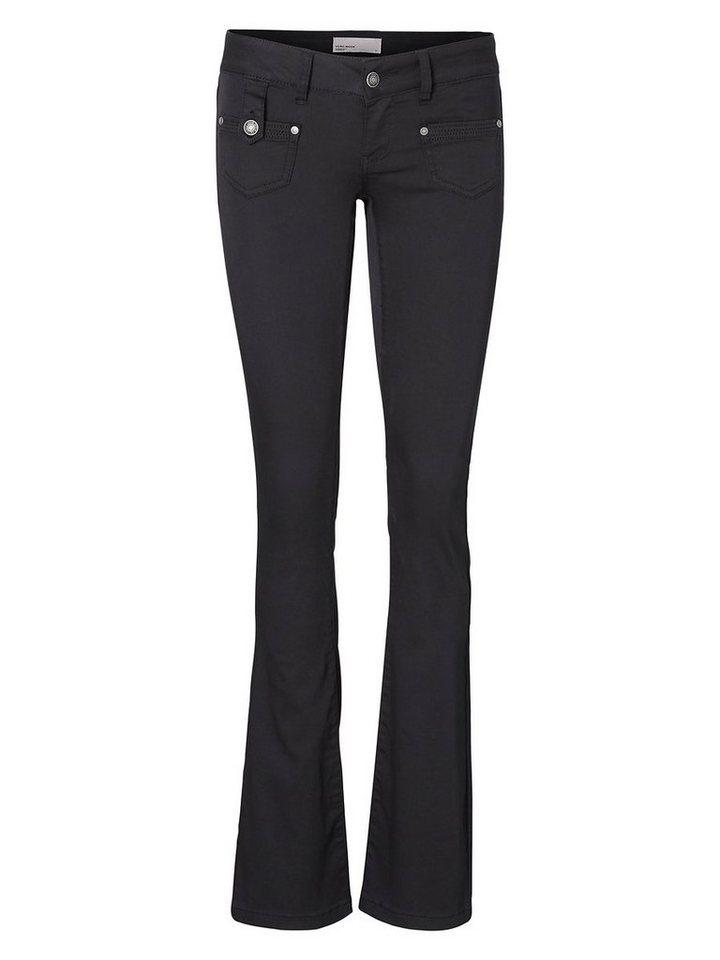 Vero Moda Dina LW Bootcut Jeans in Black