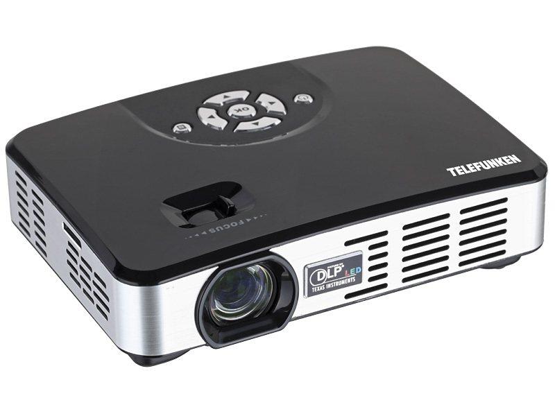 Telefunken Mini-LED-Projektor »DLP500« in schwarz