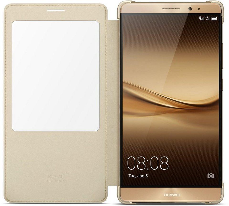 Huawei Handytasche »View Flip Cover für Mate 8« in Champagne