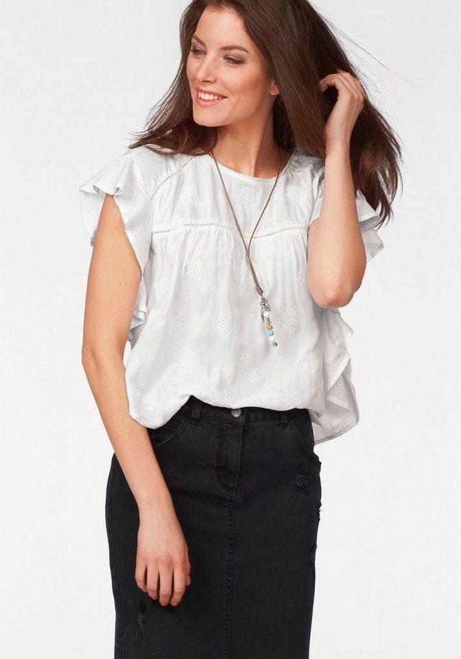 Aniston Rüschenbluse in weiß