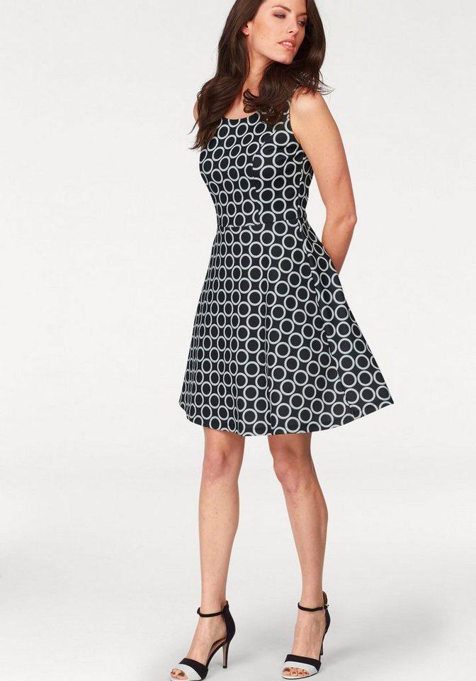 Vivance Jerseykleid in schwarz-weiß