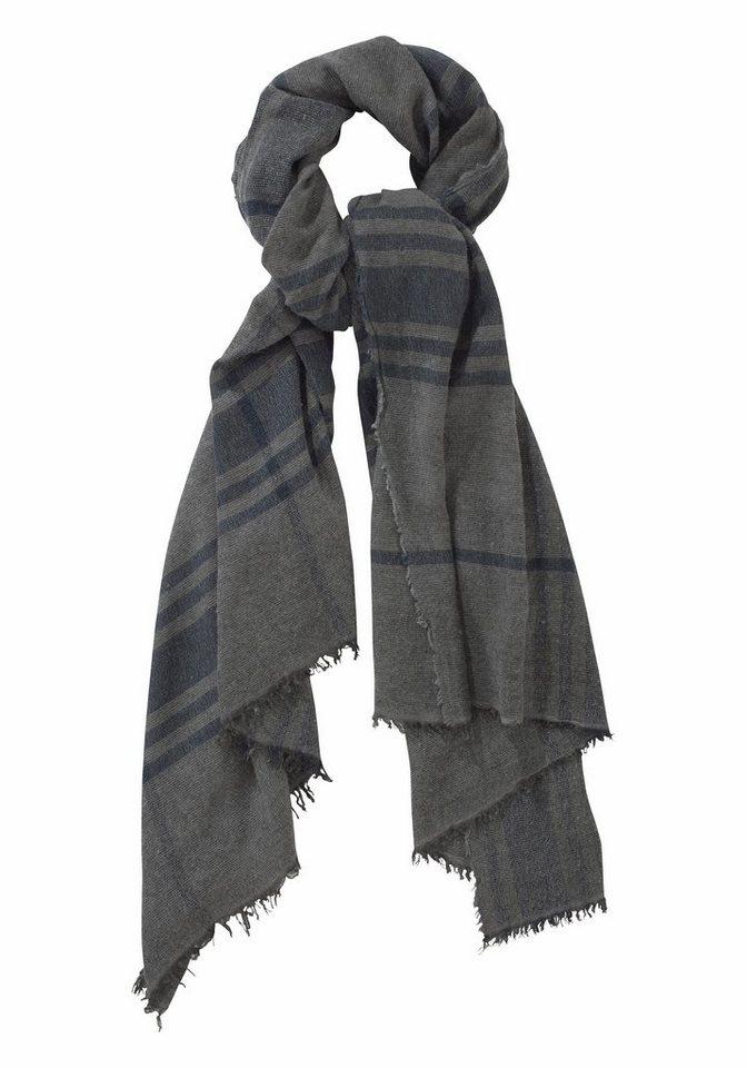 Passigatti Modeschal im Streifen-Look in grau