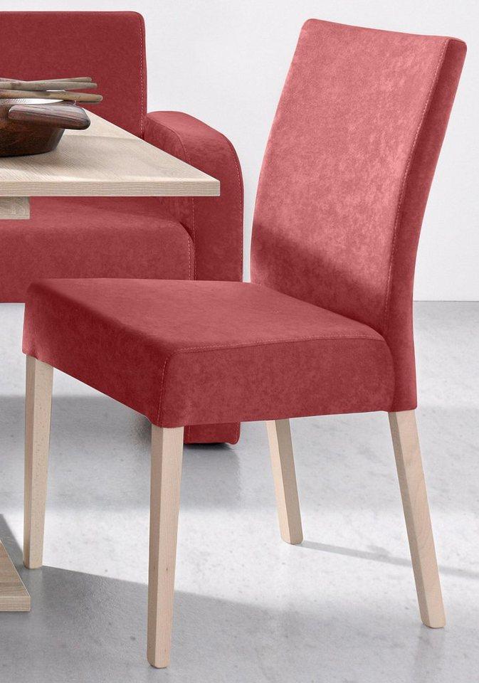 Stühle (2 Stück) in Microfaser terra