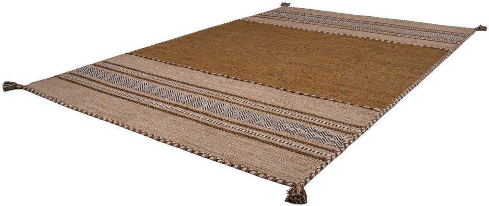 teppich alhambra 335 kayoom rechteckig h he 8 mm antik look reine baumwolle online kaufen. Black Bedroom Furniture Sets. Home Design Ideas