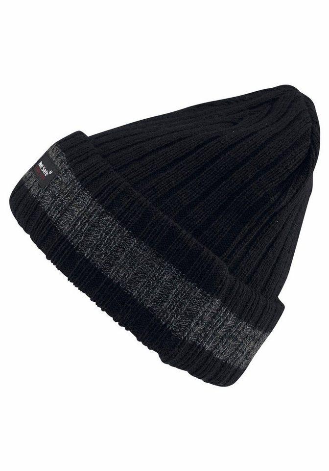 J. Jayz Strickmütze warm gefüttert in schwarz