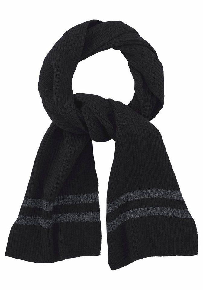 J. Jayz Strickschal im zeitlosen Design in schwarz