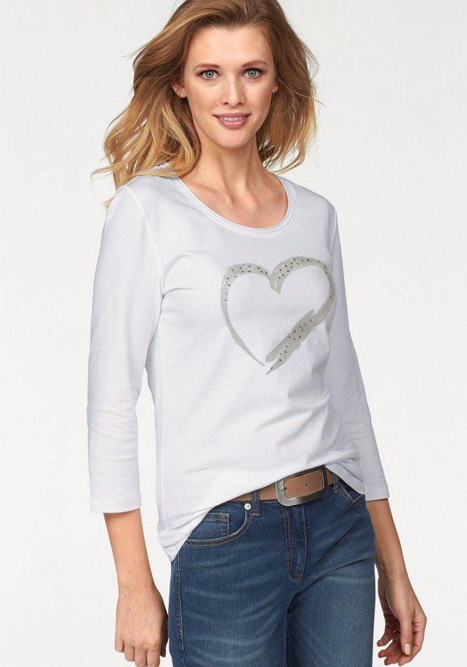 Corley Rundhalsshirt in weiß