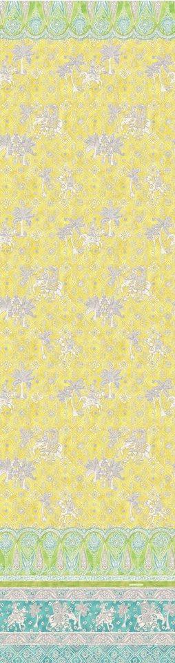 Überwurf, Bassetti, »Jasmine«, mit orientalischen Motiven in gelb
